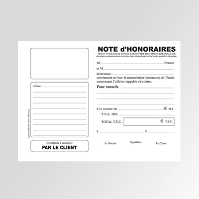 Notes d'honoraires