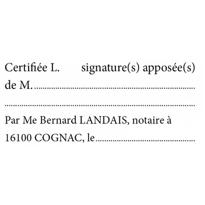 Tampon Certification de signature - E18 4931